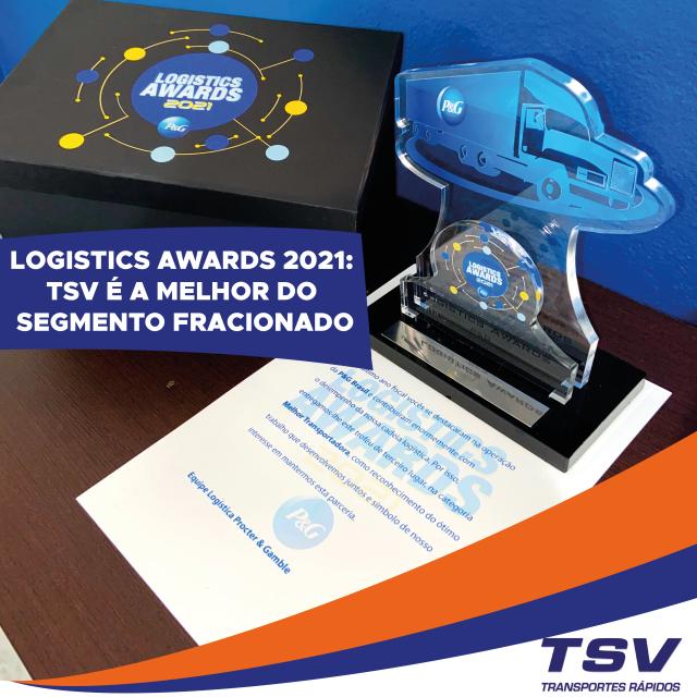 A TSV é a melhor do segmento fracionado segundo o Logistics Awards 2021!